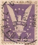 Stamps United States -  Wik the war