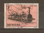 Stamps San Marino -  LOCOMOTORA   LION   1838