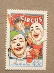 Sellos del Mundo : Oceania : Australia : El circo: los payasos
