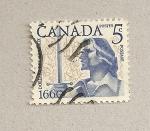 Sellos de America - Canadá -  Caballero con espada