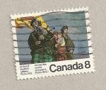 Sellos de America - Canadá -  Llegada colonos escoceses