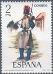 Sellos del Mundo : Europa : España : ESPAÑA 1977_2382 Uniformes militares. VII Grupo. Scott 2021