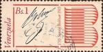 Stamps America - Venezuela -  Bicentenario del Nacimiento de Simón Bolívar, 1783-1983. Firma de Bolívar.