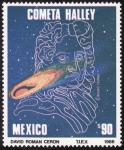 Stamps Mexico -  COMETA HALLEY-Edmund Haley