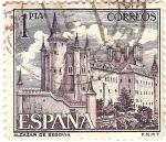 Stamps : Europe : Spain :  Castillos de España - Alcazar de Segovia