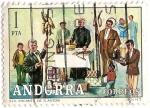 Stamps : Europe : Andorra :  Els Encants de S.Antoni