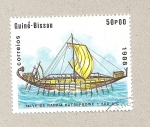 Stamps Guinea -  Barco de vela de 500 años a.C.