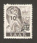 Stamps Germany -  Saar - Picapedrero
