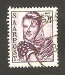 Stamps Germany -  Saar - campesina