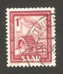 Stamps : Europe : Germany :  saar - engranajes