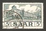Sellos de Europa - Alemania -  saar -  edificio de correos de sarrebruck