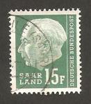 Sellos de Europa - Alemania -  saar - presidente heuss