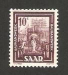 Stamps Germany -  Saar - obras de construcción