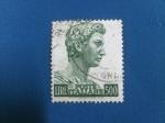 Stamps : Europe : Italy :  Cabeza de la Estatua de San Jorge - Donatelo.