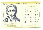 Stamps of the world : Peru :  Bicentenario del nacimiento de Louis Braille
