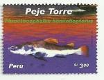 Stamps of the world : Peru :  Peces de rio del Perú