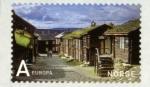Sellos del Mundo : Europa : Noruega : NORUEGA - Ciudad minera de Røros y la circunferencia