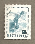 Sellos de Europa - Hungría -  Excavadora motorizada