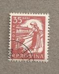 Stamps Romania -  Obrera textil