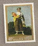 Stamps Hungary -  Mujer con cántaro de Goya