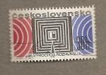 Stamps Europe - Czechoslovakia -  Dibujo geométrico