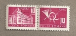 Stamps Romania -  Edificio postal