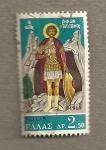 Sellos de Europa - Grecia -  Santo-guerrero