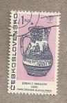 Stamps Czechoslovakia -  Jarrón hebreo del museo de Praga