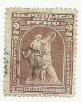 Stamps Peru -  sellos - Pro desocupados