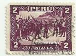 Sellos de America - Perú -  Pizarro y los trece