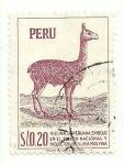 Stamps of the world : Peru :  Vicuña peruana: simbolo en el escudo nacional y productora de la mas fina lana