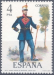 Stamps : Europe : Spain :  ESPAÑA 1977_2384 Uniformes militares. VII Grupo. Scott 2023