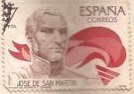 Stamps Spain -  Jose de San Martin