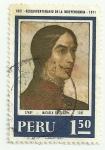 Stamps America - Peru -  Sesquicentenario de la Independencia: Micaela Bastidas