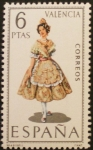 Stamps of the world : Spain :  traje tipico valencia
