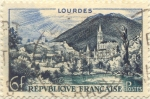 Stamps of the world : France :  Lourdes