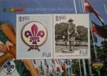 Stamps Oceania - Fiji -  hb centenario scouts