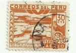 Stamps Peru -  Boca Toma de la Achirana - Rio Ica