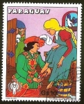 Stamps Paraguay -  LA CENICIENTA.