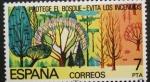 Sellos del Mundo : Europa : España : protege el bosque