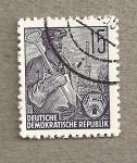 Stamps Germany -  Trabajador