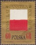 Sellos de Europa - Polonia -  Polonia 1966 Scott 1424 Sello Nuevo Bandera Polaca 1000 Aniversario Polska Poland Polen Pologne