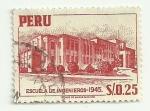 Sellos del Mundo : America : Perú : Escuela de Ingenieros - 1945