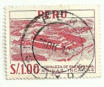 Sellos del Mundo : America : Perú : Fortaleza de Paramonga, Ruinas Incas