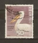 Stamps Hong Kong -  PELÌCANO   DALMATA