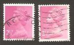 Stamps United Kingdom -  elizabeth II (2,50 mas cerca del cuerpo)