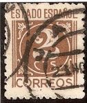 Stamps : Europe : Spain :  Cifras 2 ctmos