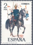 Stamps Spain -  ESPAÑA 1977_2424 Uniformes militares. VIII Grupo. Scott 2052