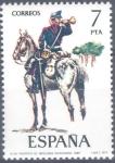 Stamps : Europe : Spain :  ESPAÑA 1977_2426 Uniformes militares. VIII Grupo. Scott 2054