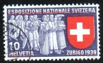 Stamps Europe - Switzerland -  Exposición nacional suiza - Zurich 1939